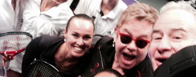 Sabine Lisicki und Elton John