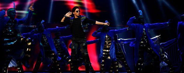 Bollywood-Legende Shah Rukh Khan bei einem Auftritt in Sydney