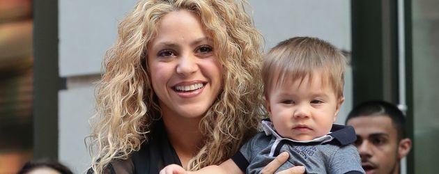Shakira mit ihrem Sohn Sasha in New York