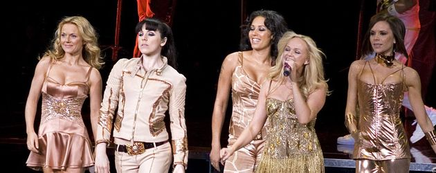 Spice Girls in goldener Kleidung