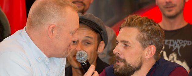 Entertainer Stefan Raab und Klaas Heufer-Umlauf