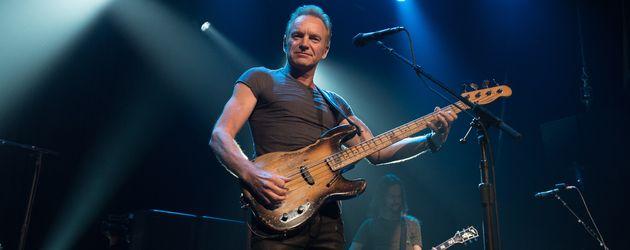 Sting im November 2016 bei seinem Konzert im Bataclan in Paris