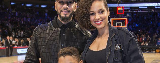 Swizz Beatz, Alicia Keys, ihr gemeinsamer Sohn Egypt und Swizz' Sohn Kasseem