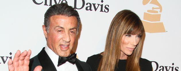 Sylvester Stallone mit seiner Frau Jennifer Flavin