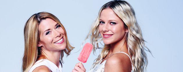 Tanja Szewczenko (links) und Cheyenne Pahde (rechts), AWZ-Schauspielerinnen