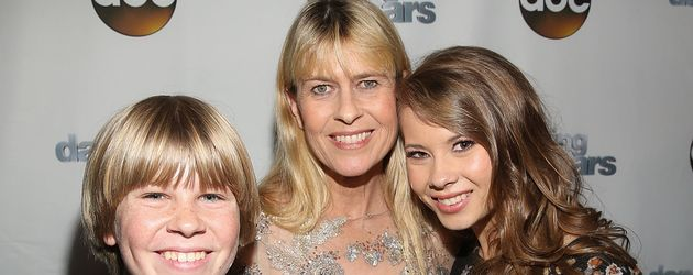 Terri Irwin mit ihren Kindern Bindi und Robert Clarence im Mai 2016