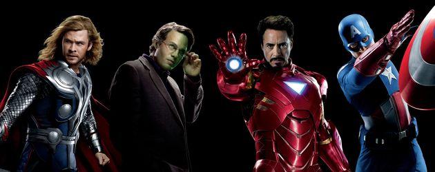 Chris Hemsworth, Robert Downey Junior, Chris Evans und Mark Ruffalo