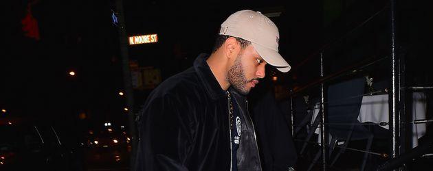 The Weeknd in New York auf dem Weg zu Bella Hadids Geburtstagsparty