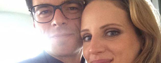 Tobias Licht und seine Braut Nora am Hochzeitstag