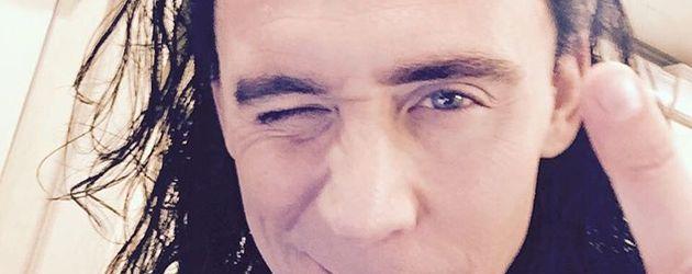 """Tom Hiddelstons erstes Instagram-Selfie als """"Loki"""""""