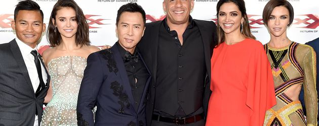 Tony Jaa, Nina Dobrev, Donnie Yen, Vin Diesel. Deepika Padukone und Ruby Rose in London
