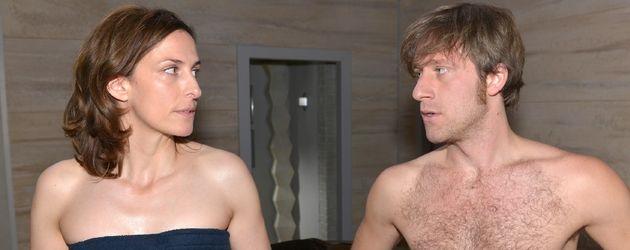 Ulrike Frank und Merlin Leonhardt in einer GZSZ-Szene