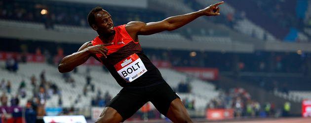 Usain Bolt bei einem Wettkampf in London im Juli 2016