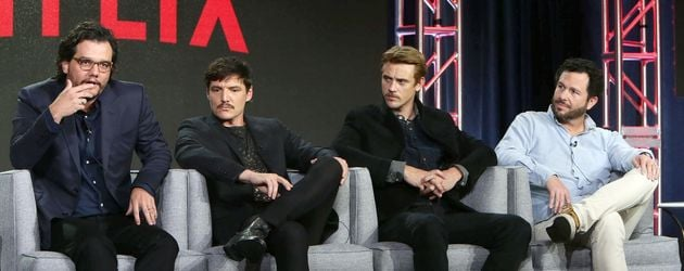 Wagner Moura, Pedro Pascal, Boyd Holbrook, Eric Newman bei Netflix TCA Press Tour 2016
