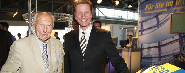 Walter Scheel und Guido Westerwelle