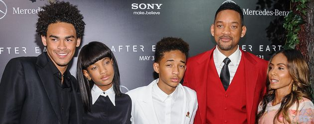 Will Smith, Jada Pinkett-Smith, Jaden Smith und Willow Smith
