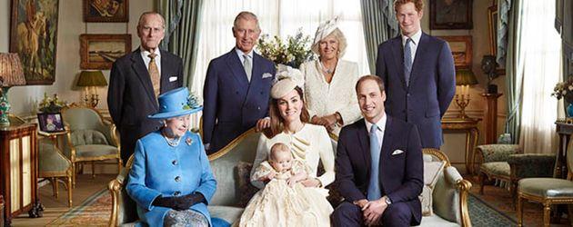 Queen Elizabeth II., Prinz William und Prinz George